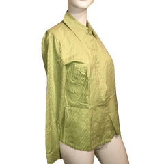 Talbots Lime Green Long Sleeve Shirt with Full Button Down Closure 100% Cotton Size6 (SKU 000170)
