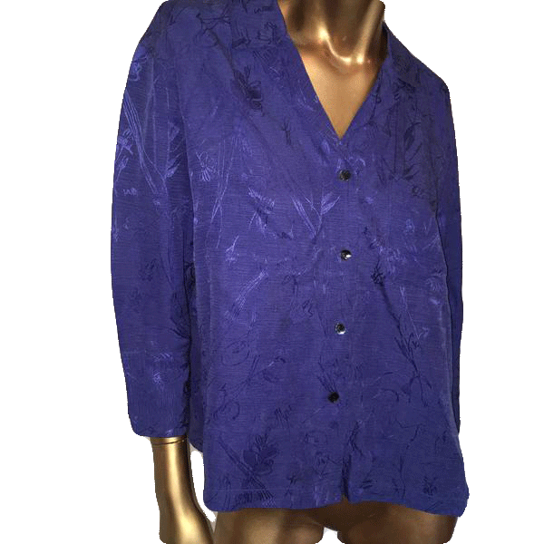 Chico's Top Purple Long Sleeve Size 1 SKU 000090