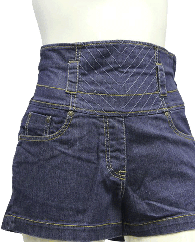 SHORTS Bebe High Waist Blue Denim Shorts Sz 27 (SKU 000006)