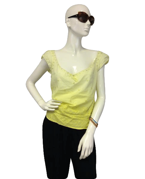 Red Cat 70's Top Yellow Off the Shoulder Size S SKU 000090