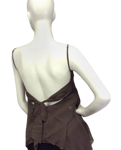 BCBG Sheer Into Silk Brown Tank Size M (SKU 000090)