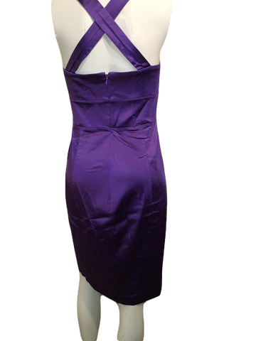 Calvin Klein Purple Knee Length Party Dress Size 10 (SKU 000201)