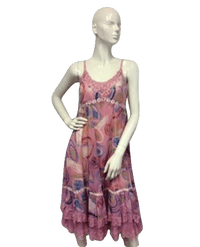 Vasna Desire Dress Pink Print Sz S SKU 000090