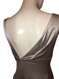 Tahari Silver Ankle Length Formal Gown Size M SKU 000201