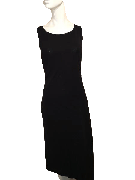 Casual Corner Black Dress with Beautiful Hanging Draped Back Size L SKU 000201