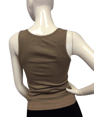 Beads on Brown Tank Top Size S (SKU 000090)