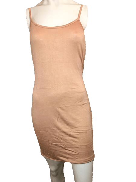Toto Collection Tan Fitted Spaghetti Strap Slinky Dress Size XXL (SKU 000201)