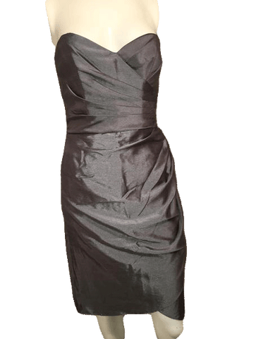 Wtoo by Watters and Watters Dark Slate Gray Strapless Cocktail Party Dress Size 6 (SKU 000201)