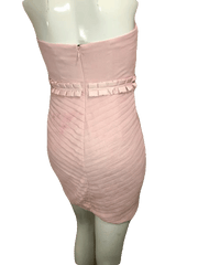 BCBGeration Pale Pink Sheer Dress with Sweetheart Neckline Size 0 (SKU 000201)