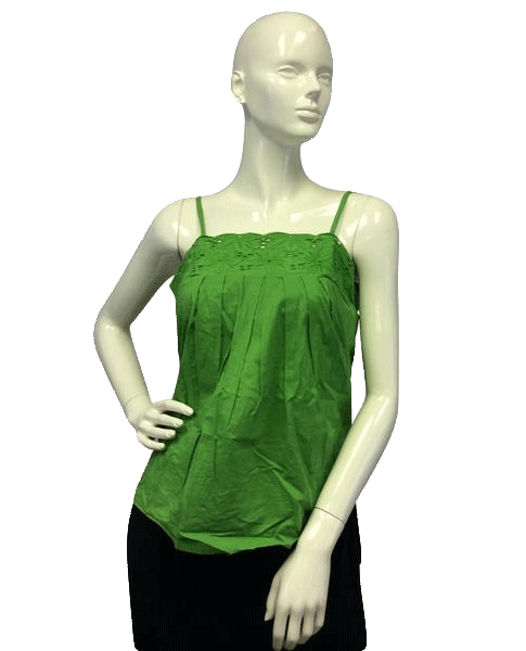 Green Boho Top Size Medium (SKU 000081)
