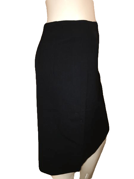 Designers on a Dime Classic Black Lined Knee Length Skirt Size 10 SKU 000144