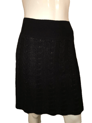 Lapis Black Cable Sweater Skirt Size XL SKU 000144