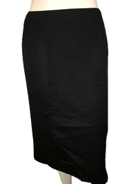 Designers on a Dime Black Textured Skirt Size 24W SKU 000144