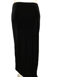 CDW Creative Design Works Black Velvet Ankle Length Skirt L SKU 000154