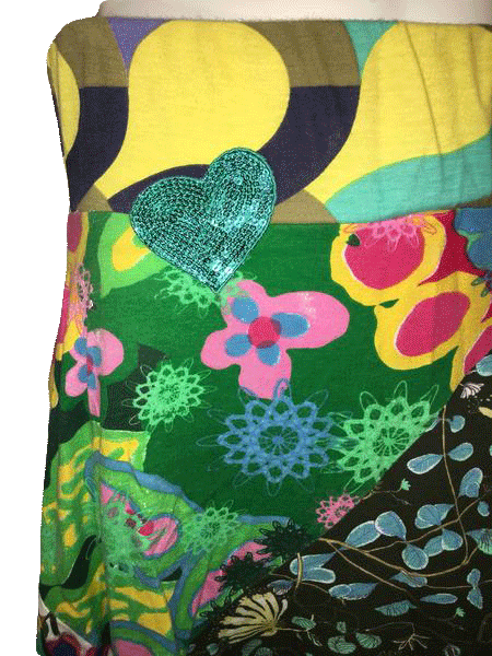 Designers on a Dime Multicolored Print Skirt Size L SKU 000154
