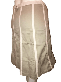 "Proenza Schouler Beige Mini Skirt with Trim Size 28"" SKU 000154"
