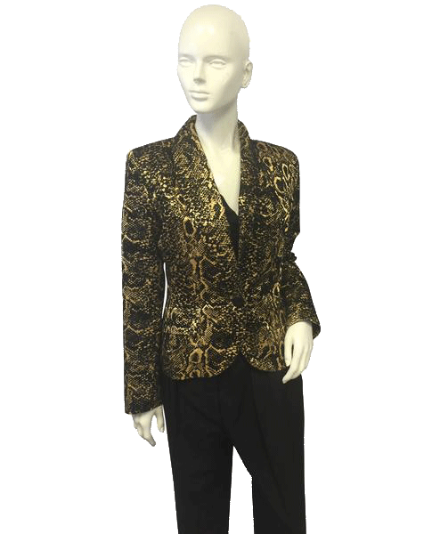 Yves Saint Laurent 80's Blazer Animal Print Size 8 SKU 000057