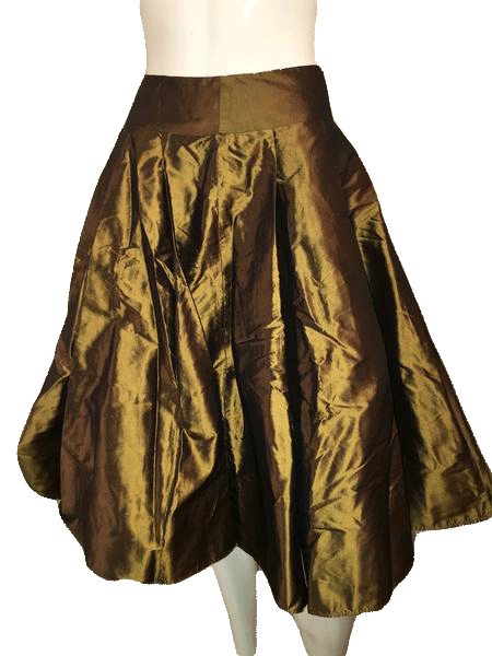 Talbots Brown Skirt 100% Silk Size 2P SKU 000154
