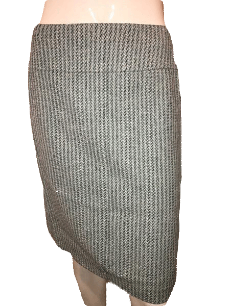 Ann Taylor Loft Blue and Gray Tweed Professional Skirt Size 4 SKU 000154