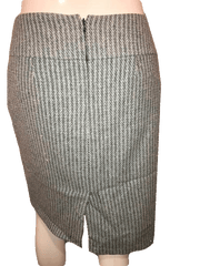 Ann Taylor Loft Blue and Gray Tweed Professional Skirt Size 4 (SKU 000154)