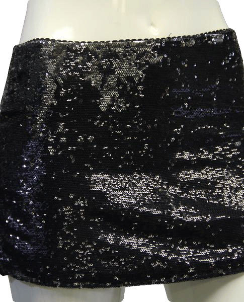 XXI 90's Mini Skirt Black Sequins Size S/P SKU 000019