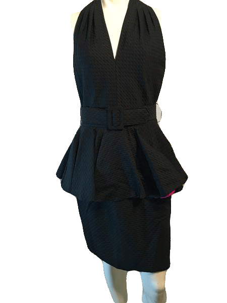 A.J. Bari Black Belted Dress Size 12 SKU 000123