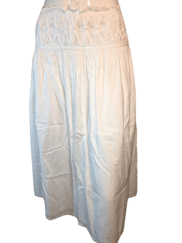 "United Colors of Benetton White Airy and Flowey Below the Knee Length Skirt Size 30""(SKU 000126)"