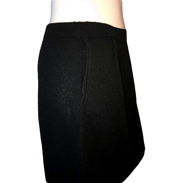 "Jil Sander Black Below Knee Length Skirt Size 30"" SKU 000126"