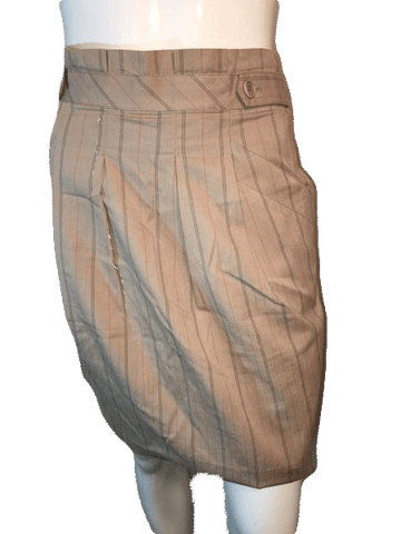 BCBG Maxazria Tan Pin Striped Knee Length Skirt Size 4 (SKU 000126)