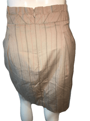 BCBG Maxazria Tan Pin Striped Knee Length Skirt Size 4 SKU 000126