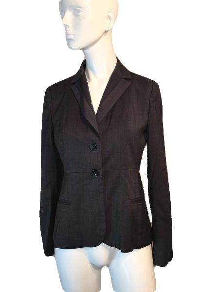 Banana Republic Dark Gray Blazer Size 2 (SKU 000150)