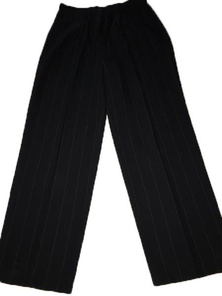 Giorgio Armani Pin Striped Navy Blue Dress Pants Size 10 SKU 000180