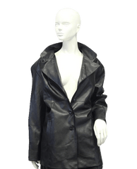 Outbrook Vegan Black Leather Coat Sz 1X (SKU 000018)