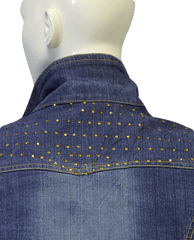 DENIM BLAZER Cropped Sparkle In Denim Medium (SKU 000006)