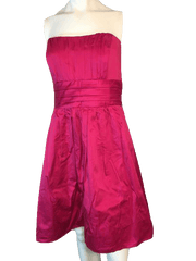 Davids Bridal Hot Pink Formal Dress Size 16 (SKU 000200)