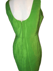 Magali Collection 100% Lime Green Party Dress Size 10 (SKU 000200)