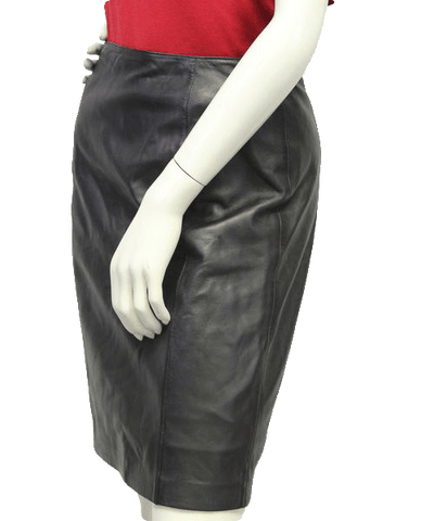 Kay Unger Sophisticate Genuine Leather Skirt Sz 6 (SKU 000018)