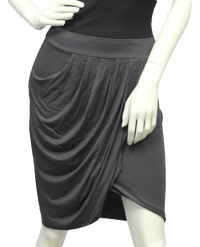 Three Dot Gray Jersey Wrap Skirt Size S (SKU 000004)