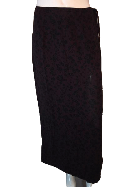 Banana Republic Maxi Skirt Dark Purple & Black Size 10 SKU 000094