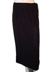 Banana Republic Dark Purple and Black Long Skirt Fully Lined Size 10 (SKU 000094)