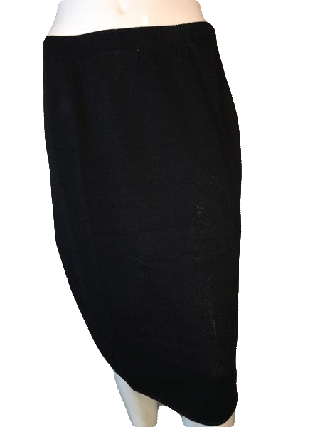 Black Sweater Skirt Size S SKU 000094