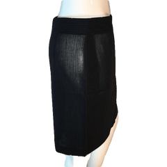 DKNY Black Pin Striped Professional Skirt Size 8 (SKU 000202)