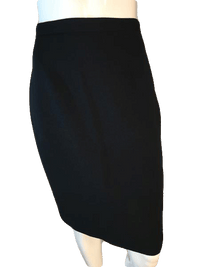 Chaus Above Knee Length Black Professional Skirt Size 4 SKU 000202