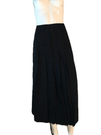 Designers on a Dime 100% Worsted Wool Black Pleated Ankle Length Skirt Size 6 SKU 000202