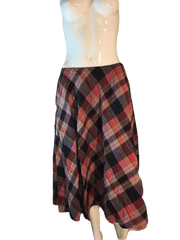 TICA 100% Cotton Plaid Above the Ankle Length Skirt Size 3 (SKU 000202)