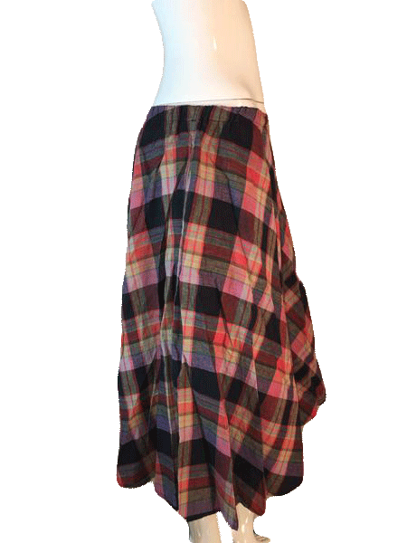TICA 100% Cotton Plaid Above the Ankle Length Skirt Size 3 SKU 000202