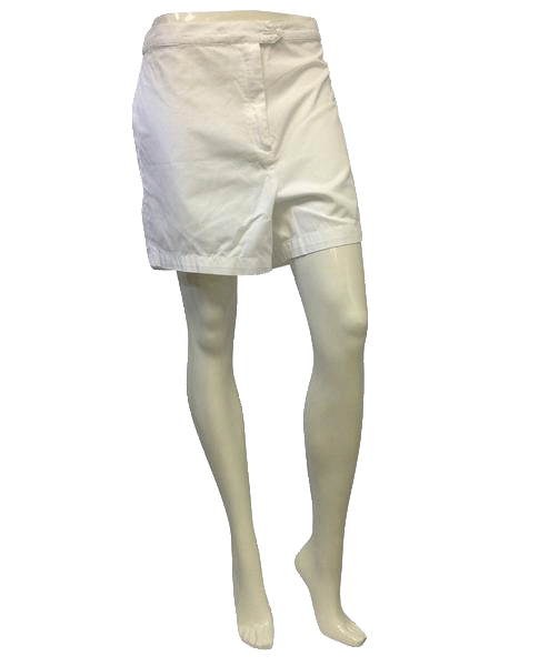 Escada White Cotton Shorts Size 44 (US 14) (SKU 000009)