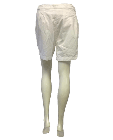 Escada White Cotton Shorts Size 44 (US 12) (SKU 000009)