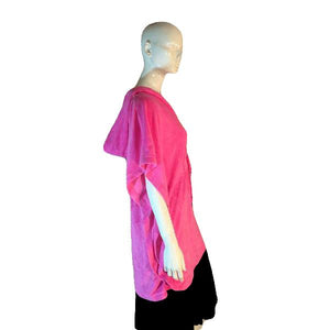 Jenni by Jennifer Moore Pink Terry Cloth Cover-Up Hoodie with drawstring waist One Size SKU 000205