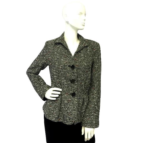 Lafayette 148 Black and White Tweed Blazer Sz 6 (SKU 000016)